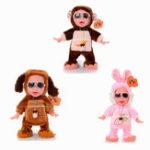 Оригинал Nice Dream Toys Ice Cream Boy Chargeable Reaction Laughing Crying Электронные танцы, фаршированные Кукла
