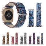 Оригинал Цветные кожаные часы Стандарты Ремень 38 мм для Apple Watch iWatch Серия 3 2 1