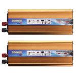 Оригинал Солнечная Инвертор мощности 2000W 12 / 24V DC для 220V AC USB Wave Converter