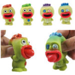 Оригинал Alien Squishy Stress Reliever Fun Gift Sticking Tongue Toy Big Mouth Slime