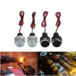 Оригинал 2PCS мотоцикл Ручка LED Поворотное торцевое кольцо для штрих-кодов Янтарные огни