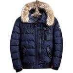Оригинал Зимние теплые утолщенные модные повседневные пушистые куртки с капюшоном Parkas для мужчин