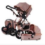 Оригинал 3 IN 1 Многофункциональная детская коляска с высоким взглядом Pram Складная коляска Bassette Авто Seat