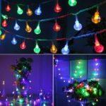 Оригинал Солнечная Powered 30LEDs Красочный хрустальный шар На открытом воздухе Fairy String Light для рождественской вечеринки Патио