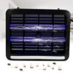 Оригинал 8W На открытом воздухе LED Ловушка для комаров Лампа Электрический шок для насекомых Zapper Pest Москито-убийца Лампа