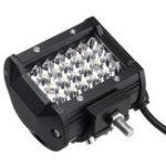 Оригинал Pair Universal 4Row 24 LED 72W 4 дюймов Spot Offroad Work Light Bar Противотуманные фары 10 до 30 В