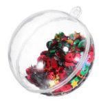 Оригинал 6PCSРождественскаявечеринкаДомашнееукрашение5CM Sequin Прозрачный шар Bauble Ornament Kids Children Gift
