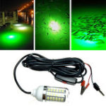 Оригинал ZANLURE 12V 15W Deep Drop Underwater LED Рыбалка Light На открытом воздухе Yellow / Blue Fish Finder Лампа