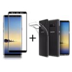 Оригинал Bakeey™3DCurvedEdgeиз закаленной стеклянной пленки Прозрачный TPU Силиконовый Чехол для Samsung GalaxyNote8