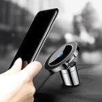 Оригинал Baseus Авто Mount Qi Магнитный держатель для беспроводного зарядного устройства для iPhone X 8 Samsung Note 8