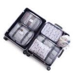 Original KCASA 6Pcs Travel Storage Сумки Set Portable Tidy Чемодан Органайзер Упаковка для одежды Home Closet Divider Container Сумка Водонепроницаемы Хранение Чехол