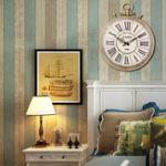 Оригинал Большой раунд Винтаж Карманные часы Стиль римские цифры стены Часы Домашнее украшение