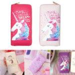 Оригинал УниверсальнаякрасочнаямолнияСумкаКошелекдля телефона Unicorn Кошелек для телефона под 5,5 дюйма
