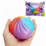 Оригинал Squishy Rainbow Bun 8.5cm Soft Медленный рост с коллекцией подарков
