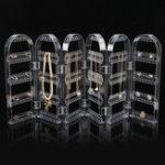 Оригинал 360 Holes Clear Дисплей Стойка для стойки Органайзер Держатель для Серьги Колье для ожерелья