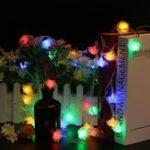 Оригинал 5M 40LEDs 8 режимов Rose Flower Indoor На открытом воздухе Fairy String Light для рождественского патио AC220V