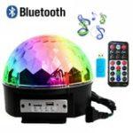 Оригинал 12W Bluetooth Голосовое управление LED Волшебный Ball Stage Лампа Цветной дисковод MP3 с контроллером Дистанционный