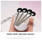Оригинал 1 piece Espresso Spoons Stainless Steel Vogue Mini Teaspoon for Coffee Sugar Dessert Cake Ice Cream Soup Spoon