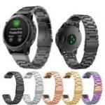 Оригинал Запасные часы из нержавеющей стали с металлическим креплением Стандарты Ремень для Garmin Fenix 5