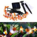 Оригинал Солнечная Powered 5M 20LEDs Водонепроницаемы Honey Bee Fairy String Light для Сад Yard Christmas