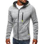Оригинал Мужская спортивная одежда Жаккардовый флис кардиган Мода Толстый Zip Up с капюшоном Куртка