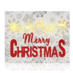 Оригинал Рождественскиеукрашениядлядомаукрашениелося ночной висит рамка с Светодиодный орнамент игрушки Kids Gift