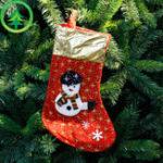 Оригинал Новогодние украшения 2017 Рождественский чулок Clthes Santa Носки Рождественский подарок на Новый год Candy Gift Сумки для детей