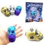 Оригинал Chameleon Squishy Череп Скелетная голова 10см Хэллоуин-декор медленно растет с упаковочной подарочной игрушкой