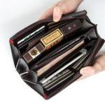 Оригинал PUкожаныйбизнесповседневнаямолниясцепления Сумка 4 Cash карманный кошелек для мужчин