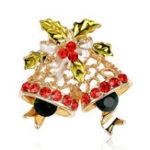 Оригинал BSTAYLYEXI Мода Rhinestone Рождественские колокола Броши штыри Женское Подарки Новогодние брокеты