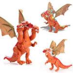 Оригинал ЭлектрическоемоделированиеходьбыДинозаврКрасныйТри Драконы Игрушки для детей Дети Christams Gift