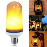 Оригинал E27 1.8W SMD2835 105LEDs Теплый белый мерцающий режим Flame Effect Light Bulb AC85-265V