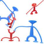 Оригинал 4PCS 75mm 125mm Spider Sucker Человек сосательный диск Blue Red Кукла Рисунок Toy Gift Fun Творческая новинка