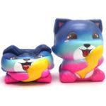 Оригинал Areedy Галактика Fox & Рыба Медленное Восхождение Soft Коллекция животных Подарочный Декор Игрушка Оригинальная упаковка
