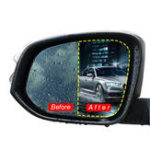 Оригинал 2шт 175×200 мм Антипробуксовочная пленка с противоскользящим покрытием Nano Coating Rainproof Mirror Window Защитная пленка