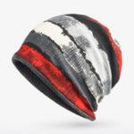 Оригинал Мужчины Женское Muticolor Stripe Warm Beanie Hats Winter для обоих шарфов и шапок