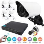 Оригинал 4CH 720P WIFI Wireless NVR IP CCTV Security камера На открытом воздухе Ночное видение камера Система