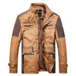Оригинал Винтаж Кожаные карманы из искусственной кожи Мотоциклетные куртки PU