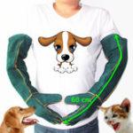 Оригинал Anti-Bite Safety Bite Перчатки Ультра длинная кожаная зеленая Домашние животные Захват для укусов Защитный Перчатки для улова Собака Животные-репт