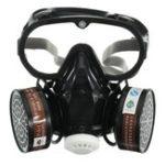 Оригинал  Респираторный газ Маска Защитный химический противопылевой фильтр Военный Набор защитных очков для глаз на рабочем месте Safety Prote
