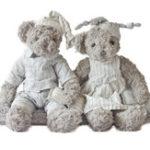 Оригинал 34см плюшевый медведь фаршированные животные Джесси и Майкл пара мультфильм плюшевые игрушки милый медведь Кукла для детей Baby Christmas Birthday Gift