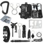 Оригинал 13в1комплектыснаряжениядля выживания Emergency SOS Survive Инструмент For Wilderness / Trip / Hiking / Кемпинг