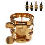 Оригинал 1Pc Gold Plated Alto Saxophone Mouthpiece Ligature Clip