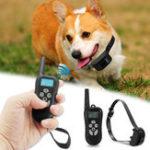 Оригинал Аккумуляторная батарея Водонепроницаемы Electric Shock Vibrate Собака Training Collar + Дистанционный