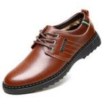 Оригинал МужчиныповседневныйбизнесSoftComfyWarm Натуральная Кожа Lace Up Oxfords Shoes