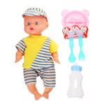 Оригинал 12Inches Lifelike Baby Dolls Smart со звуками Питьевая вода Peeing Sleeping Action Figure Toy