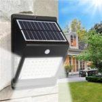 Оригинал Солнечная Powered 46 LED PIR Motion Датчик Светодиодная панель Лампа На открытом воздухе Водонепроницаемы Security Light