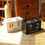Оригинал Винтаж Вечный стол для настольного стола Деревянный календарь Деревянный блок Офисный декор для рабочего стола Accessorie