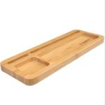 Оригинал Многофункциональный Bamboo Wooden Desktop Stand Holder для Ручка Смотреть iPhone Смартфон Tablet