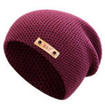 Оригинал Mens Winter Warm Solid Knit Beanie Шапка